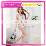Women open bust Erotic Lingerie Sexy Costumes elegant lace teddies Sleepwear Set Sex Dolls Pajamas for Women Hot Night Dress