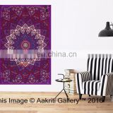 Indian Star elephant Purple color Tapestry Throw Single Beach indian tapestry wall hangers