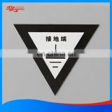 Customized diamond cut printing anodized aluminum nameplate