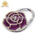 Hot Fashion Beautiful Metal Rose Purse Hanger