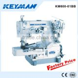 KM600-01BB Cylinder-bed interlock sewing machine for rolled edge sewing supplies 600 sewing machine blue book