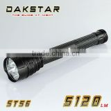 DAKSTAR ST56 CREE XML T6 5120LM 26650 or 18650 Superbright Aluminum Tactical Rechargeable High Power LED Torch Light
