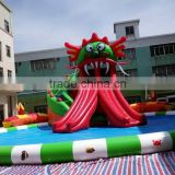 New design giant beach inflatable water park , lake floating water games , commercial aqua park