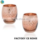 Online Rose Gold mercury Glass Votive Tealight Candle Holders                                                                         Quality Choice