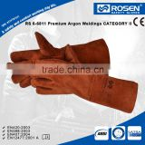 RS SAFETY Cow split welding leather glove in heat resistant and Custom welding gloves for heavy duty