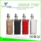 LeZT New Arrival SMY dna75 Evolv DNA75 chip smy zinc alloy box mod with occ coil tank PK DNA75W