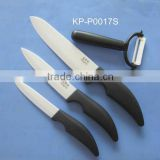 ABS +TPR with beautiful butterfly pattern soft touch handle, 94.8% zirconium oxide white blade ceramic knife set