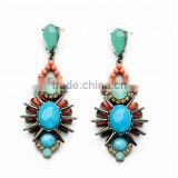 Multicolor acrylic hand made drop big earrings fashion indian jewelry wedding jewelry brincos ouro 2015 new pendientes