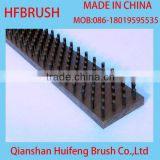 Flat brush for punching machine