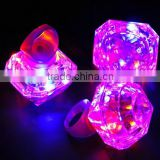 Luminous rings light up toys led finger ring lights halloween party supplies favor decor glow flashing diamond ring