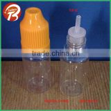 10ml PET empty e cig liquids clear plastic dropper bottles with long thin tip &childproof cap TBLDES-3-10ml(TIP-B)
