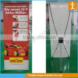 Retractable L banner stand /X banner stand for banner display