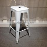 French Industrial Modern Metal Bar Stools in White,HYX-806