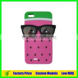 Watermelon with glasses Silicone 3d phone case mobile cover for Moto G2 cell phone case back cover