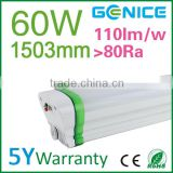 Emergency Waterproof IP65 led triproof lamp 1500mm 60w 80w Replace led waterproof t8 tri proof fluorescent light