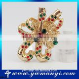 Fashion Woman's Vintage Brooches Bouquet Christmas Brooch Pins Rhinestone Brooches Hijab Pins B0475