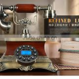 cheap pretty antique corded wooden telephone for living room decor