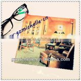 MIC4094 microfiber romatic home one side whole printing cleaning cloth for Eyeglass Phone Ipad Jewelry Metal Violin