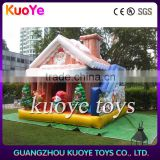 inflatable Christmas house sale,inflatable decoration with santa and tree.advertising inflatable Christmas