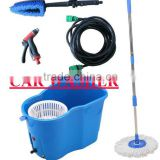 Portable Car brush washer machine for car washing, windows, floorboard, air-condition,spray flowers