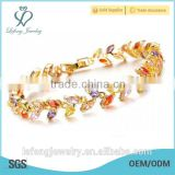 Elegant wedding jewelry treasure platinum plated bracelet for women