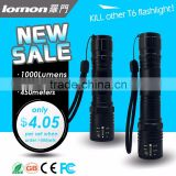 2000 Lumen 5 Modes 18650 Battery Flash Led Light Powerful XML T6 Zoomable Led Torch Rechargeable Flashlight                                                                         Quality Choice