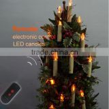 LED christmas candle light with LED remote for Christmas,remote control led Christmas candle