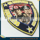 Wholesale custom embroidered patch for policeman