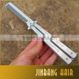 New Arrival 2016 Products Pro Salon Stainless Steel Folding Practice Training Butterfly Balisong Style Knife In Malaysia