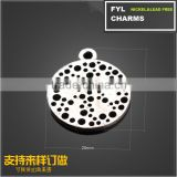 YP2930 Factory outlets] small metal parts plating ancient silver pendant jewelry RBI circular