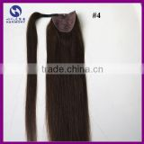 Unprocessed Natural Human Hair Ponytail Extension 100g Full Ponytail Wig Brazilian Hair Clip Ponytail 22inch Black Brown colors