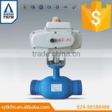 TKFM hot sale water gas oil media medium pressure electric standard fully welded ball valve