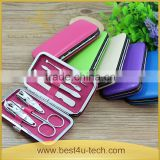 Professional Manicure set Pedicure Set 7pcs Nail Clippers Cleaner Cuticle Grooming Kit Case