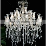 Royal Crystal Chandelier Lighting Elegant Glass Chandelier Lamp Crystal Drop of Chandelier MD33718 L28