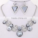 ODM/OEM Jewelry Factory indian necklace earring set, triangle earring, geometric necklace
