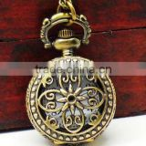 Cute small size hollow design pocket watch,souvenir