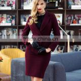 Women's Winter Clothes Business Suit Wool Skirt & Jacket Set OEM Type ODM Manufacturer Clothes Factory Guangzhou