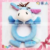 Customized Donkey Plush Toy Baby Bed Bell Rattle Toys Baby Wrist Rattle                                                                         Quality Choice