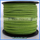 Wholesale New Arrival Shiny Green Korea Suede Leather Cord SC-1008
