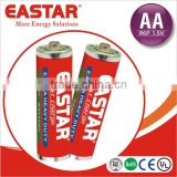 Super heavy duty 100 mins AA r6p battery carbon type for lights and etc