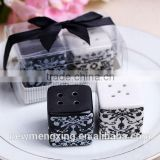 Wholesales Wedding Gifts Favor Salt and Pepper Shaker with decorations                                                                         Quality Choice