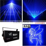 DMX512+ILDA+SD laser light/4W big power blue Advertising lighting / Text stage Laser projector