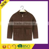 High quality design wholesale winter warm cotton cardigan boy fashion knitted children jacket