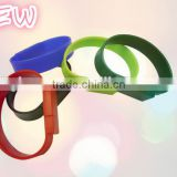 Top selling PVC silicone wristband U disk and high quality customized logo usb flash drive bracele