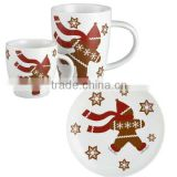 Christmas porcelain children dinnerware set