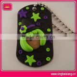 Custom silicone dog tag necklace