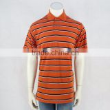 Cheap High Quality Anti-Pilling Dri Fit Moisture Wicking Striped Golf Polo T Shirts For Man