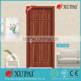 4 panel carved style red wood grainy interior door family door xupai company entry doors