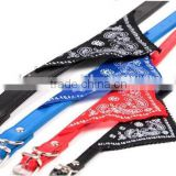 1.0-2.5cm Width Triangular Bandana Scarf PU Leather Pet Dog Collar Neckerchief Random Color                                                                         Quality Choice