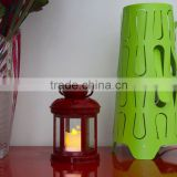 Promotion Poppas BS10 Classic ABS Plastic Cheap colorful decoration Hurricane lantern,hanging Taper Candle Lantern